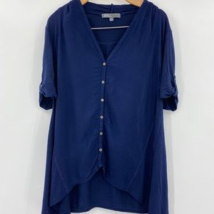 89th and Madison navy tunic top sz XL